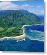 Kauai, Tunnels Beach Metal Print