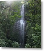 Kauai Waterfall Metal Print