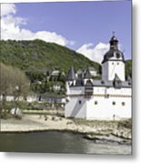 Kaub And Burg Pfalzgrafenstein Metal Print