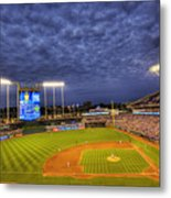 Kauffman Stadium Twilight Metal Print