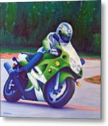 Kawasaki Zx7 - In The Groove  Metal Print