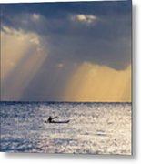 Kayak At Dawn Metal Print