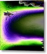Kayak In The Cut Metal Print