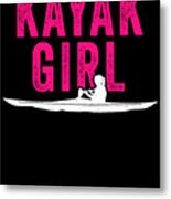 Kayak Kayak Girl Pink Gift Light Metal Print