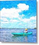 Kayak Lesson Metal Print