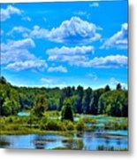 Kayak On The Moose River Metal Print