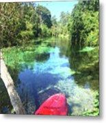 Kayak On Weeki Wachee Springs Metal Print