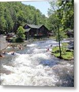 Kayak Practice Waters Metal Print