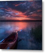 Kayak Sunrise Metal Print