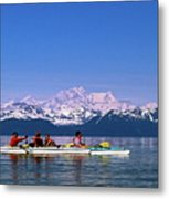 Kayakers In Alaska Metal Print