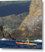 Kayaking In Molokai Metal Print