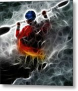 Kayaking In The Zone 3 Metal Print