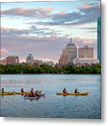 Kayaking On The Charles Metal Print