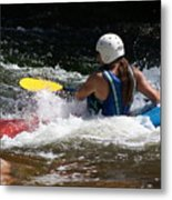 Kayaking The Brule Metal Print