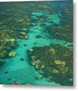 Kayaking Through Beautiful Coral Metal Print