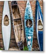 Kayaks 4 Metal Print