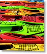 Kayaks Metal Print