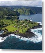 Keanae Peninsula Aerial Metal Print
