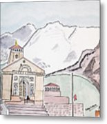 Kedarnath Jyotirling Metal Print