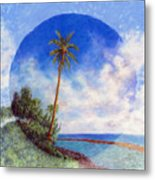 Ke'e Palm Metal Print