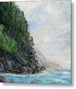 Ke'e Rocks Metal Print