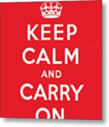 Keep Calm And Carry On Metal Print by English School