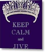 Keep Calm And Jive Diamond Tiara Deep Purple  Metal Print