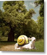 Keep Calm And Relax Metal Print by Martine Roch