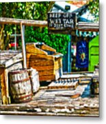 Keep Off Wet Tar It Don't Come Off Key West Florida Metal Print