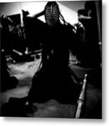 Kendo - Suiting Up For Examination Metal Print
