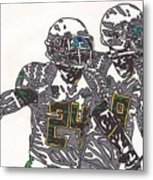 Kenjon Barner And Marcus Mariota Metal Print by Jeremiah Colley