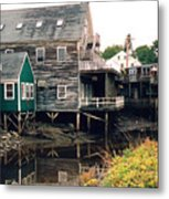 Kennebunkport At Low Tide Metal Print