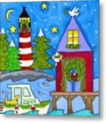 Kennebunkport Holiday Arrival Metal Print