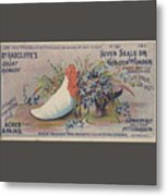Kennedy And Co. Patent Remedy #2 Metal Print