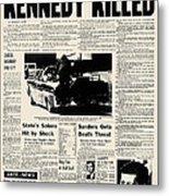 Kennedy Assassination, 1963 Metal Print