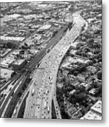 Kennedy Expressway And Chicago Skyline Metal Print