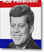 Kennedy For President 1960 Campaign Poster Metal Print