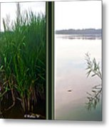 Kennersley Pt Marina 3d Crossview Stereo Metal Print