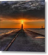 Kenosha Lighthouse Beacon Metal Print