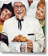 Kentucky Fried Chicken Ad Metal Print