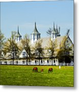 Revised Kentucky Horse Barn Hotel 2 Metal Print