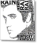 Kentucky Rain Elvis Wordart Metal Print