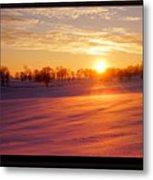 Kentucky Winter Sunrise Metal Print