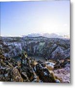 Kerid Crater Metal Print