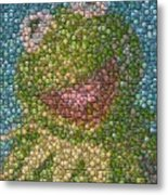 Kermit Mt. Dew Bottle Cap Mosaic Metal Print by Paul Van Scott