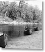 Kerr Lake Canoes Metal Print