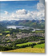Keswick And Derwent Water View From Latrigg Metal Print