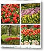 Keukenhof Garden Collage Metal Print