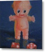 Kewpie On A Roll Metal Print