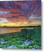 Key Biscayne Sunset Metal Print